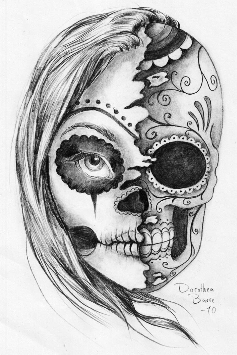 Leles Tattoo 31 Desenhos Catrina