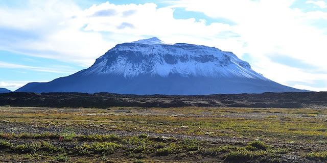 Researchers expect the volcanoes in Mars' Sisyphi Planum region to look similar to subglacial volcanoes on earth, such as Herðubreið in Iceland. (Purdue University photo/Sheridan Ackiss)