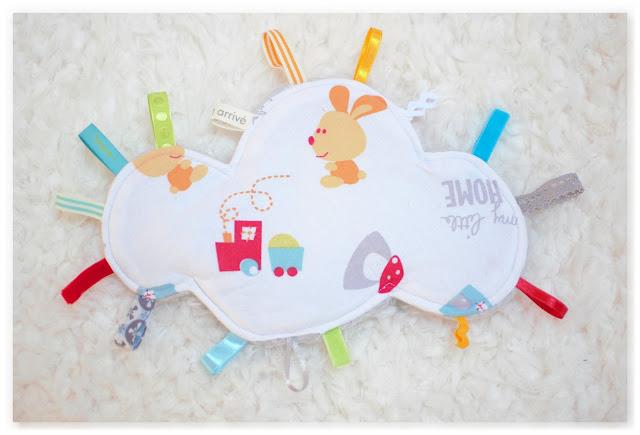 doudou étiquettes nuage pour bébé