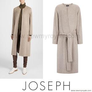 Crown Princess Mary wore JOSEPH Double Cashmere Oslo Coat