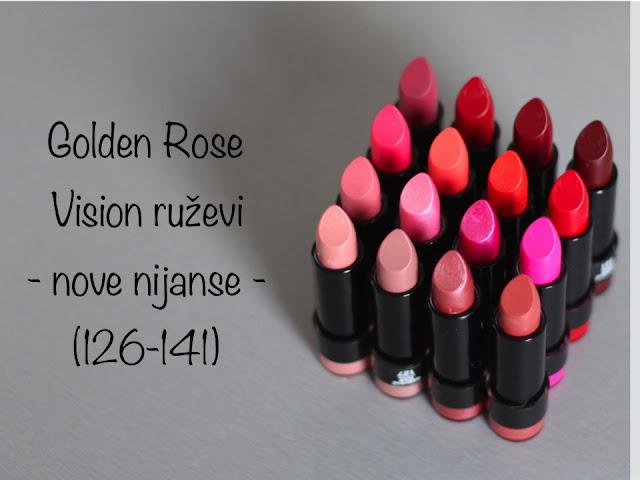 Golden Rose Vision ruževi - nove nijanse - (126-141)