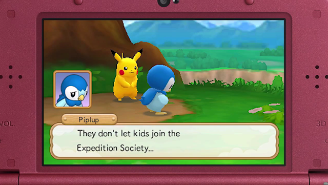 Pokémon Super Mystery Dungeon Piplup They don't let kids join the Expedition Society Nintendo Direct Micro mug