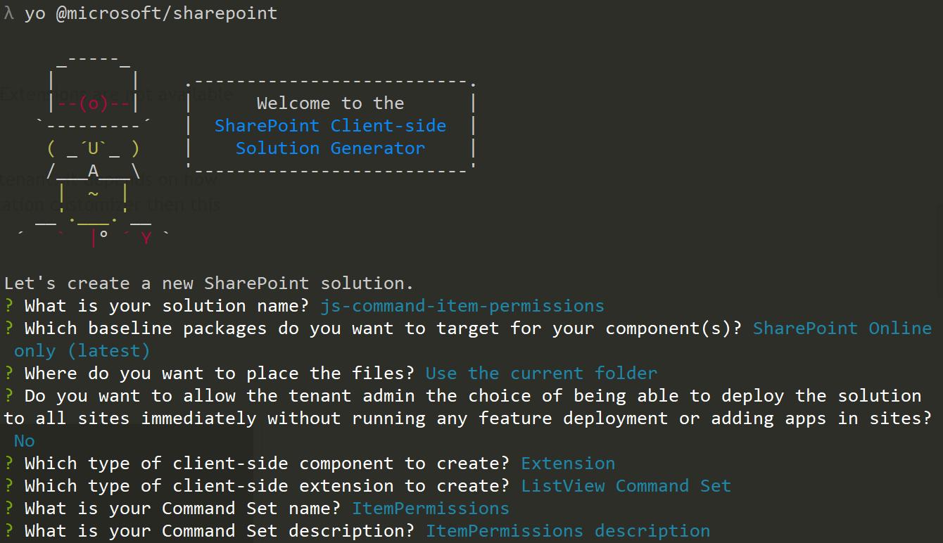 Tricky SharePoint: SharePoint Framework Extensions: Command Set