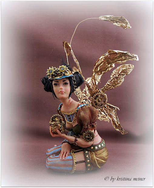 Free Shipping Ooak Art Doll Steampunk Fairy Iadr Adsg Oda