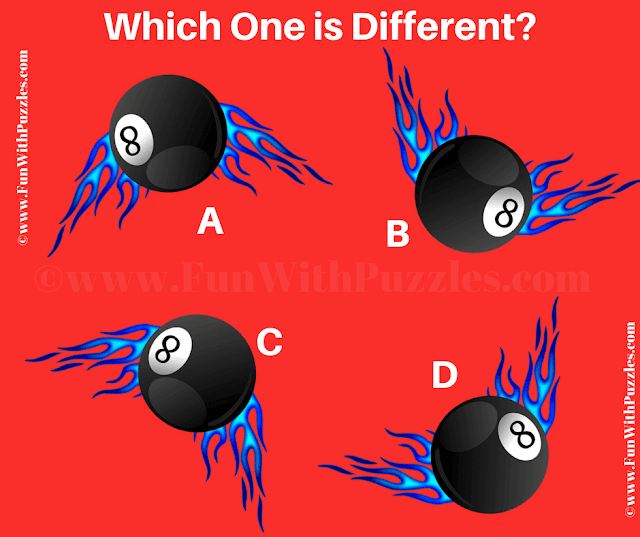 It is Odd One Out Picture Puzzle in which your challenge is find the ball which is different.