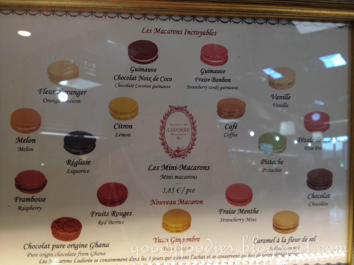 Populaire GoodyFoodies: Macarons @ Ladurée Paris, Charles De Gaulle Airport OE23