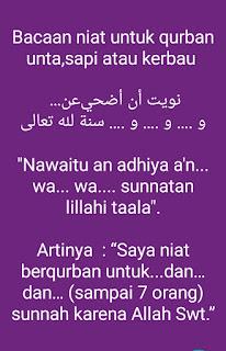Niat Qurban beberapa orang