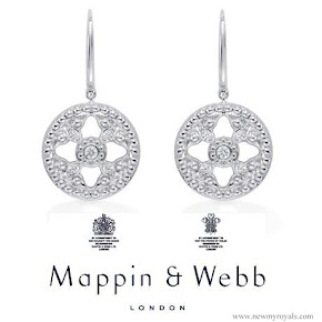 Kate Middeton jewelry Mappin & Webb Empress Drop Earrings