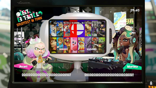 Splatoon 2 Splatfest Super Smash Bros Heroes Villains team news announcement scream