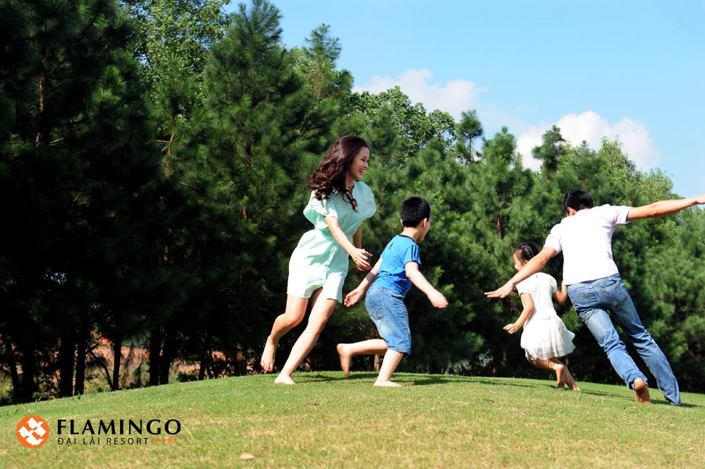 Flamigo Đại Lải rất phù hợp cho du lịch gia đình nghỉ dưỡng