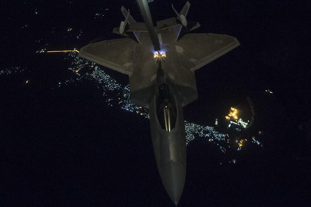 USAF F-22 Raptor airstrike Afghanistan