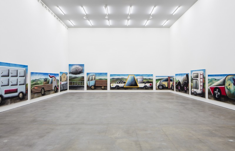 "Installation view, Andreas Schulze, ""Stau"", Sprüth Magers Berlin, July 28 - August 29, 2015"