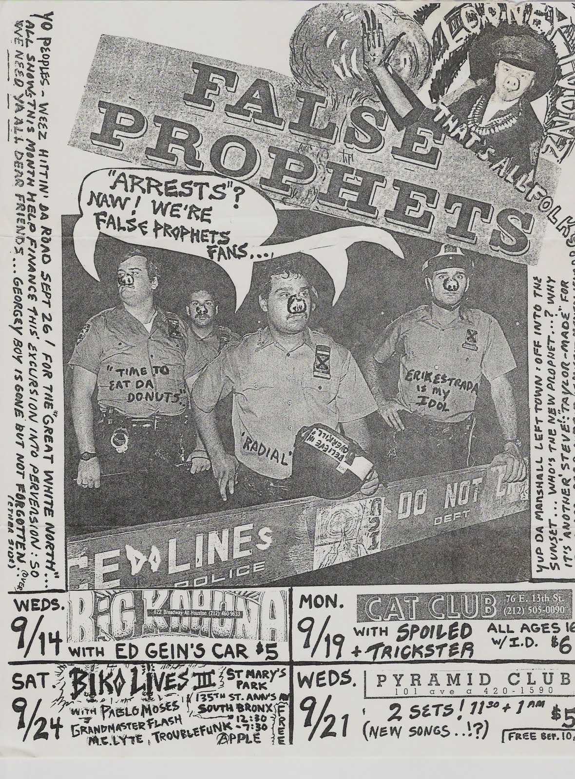 FFanzeen: Rock'n'Roll Attitude With Integrity: Club Flyers and Invites from 1970s and 1980s: Part 3