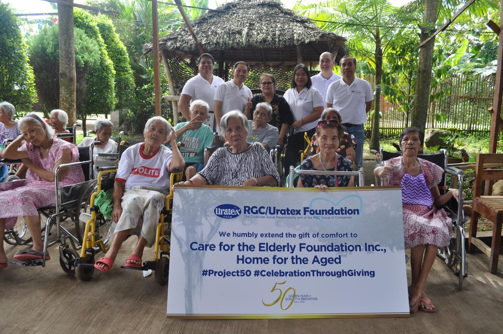 Uratex donated 2,500 mattresses to Care for the Elderly Foundation in Mindanao