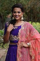 Actress Shraddha Srinath in Purple Chania Choli Cute Pics ~  Exclusive 53.jpg