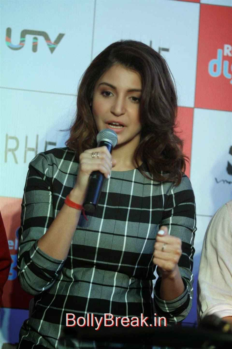 Anushka Sharma Pictures, Anushka Sharma Hot Pics In check dress from PK Mobile Game Launch