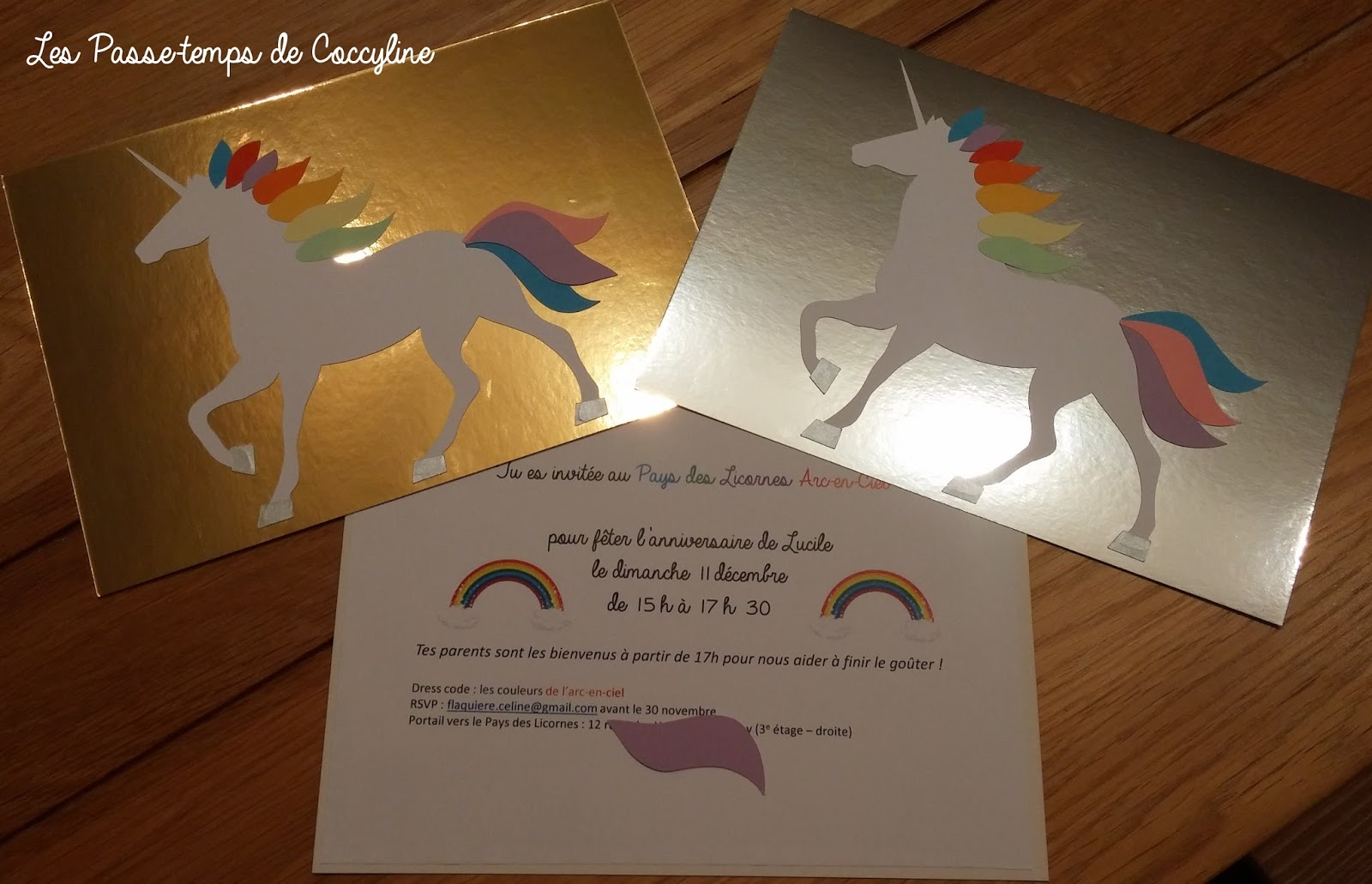 anniversaire licorne et arc en ciel les cartes d. Black Bedroom Furniture Sets. Home Design Ideas