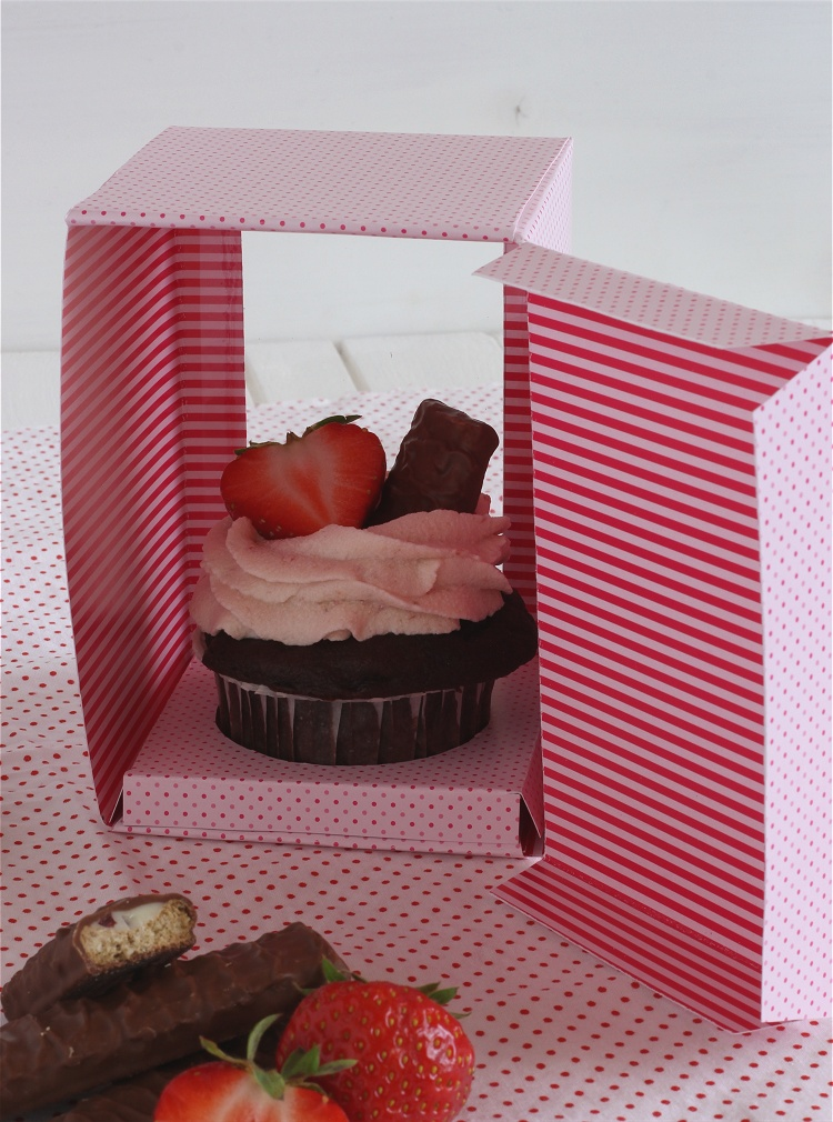DIY/Tutorial Cupcake-Geschenkbox - Cupcake-Geschenkschachtel 3