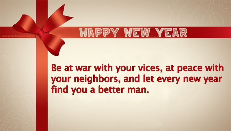 Happy New Year Quotes 2016 Best At War With Your Vices