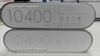 Perbedaan Power Bank Xiaomi Asli dan Palsu