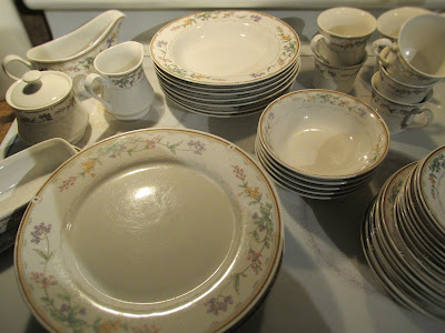 Set of China for just $30 -Vickie's Kitchen and Garden