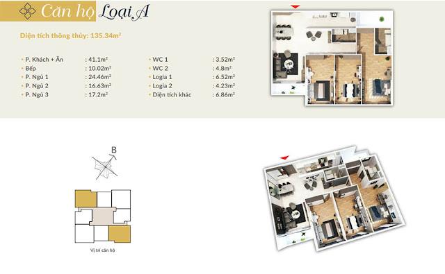 Thiết kế căn hộ loại A