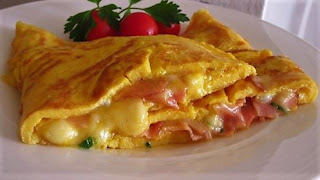 The  perfect ham and cheese omelette
