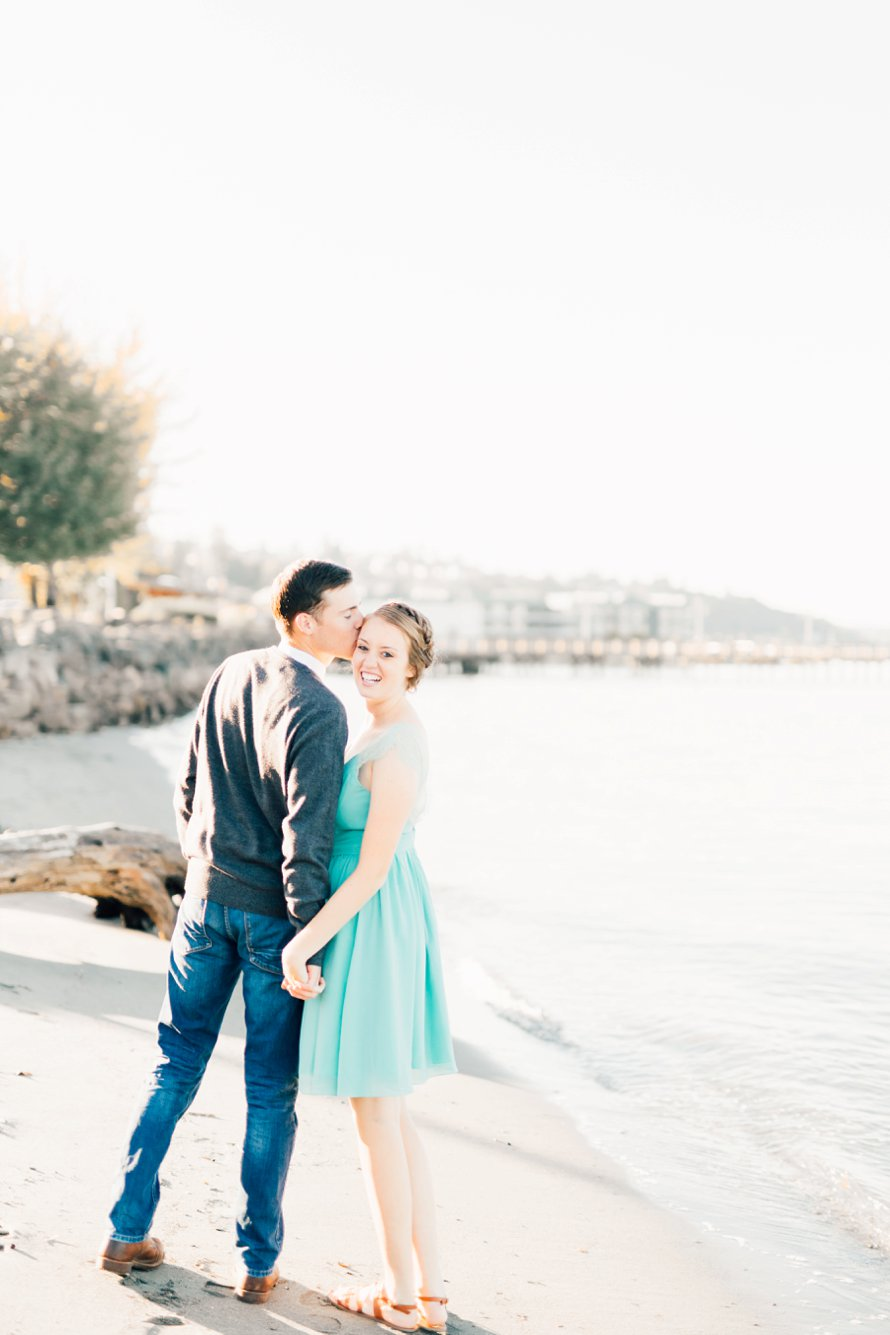 Romantic Waterfront Engagement Session by Destination Wedding Photographer Something Minted