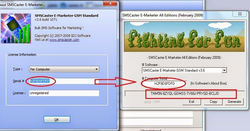 sms caster software free download with key