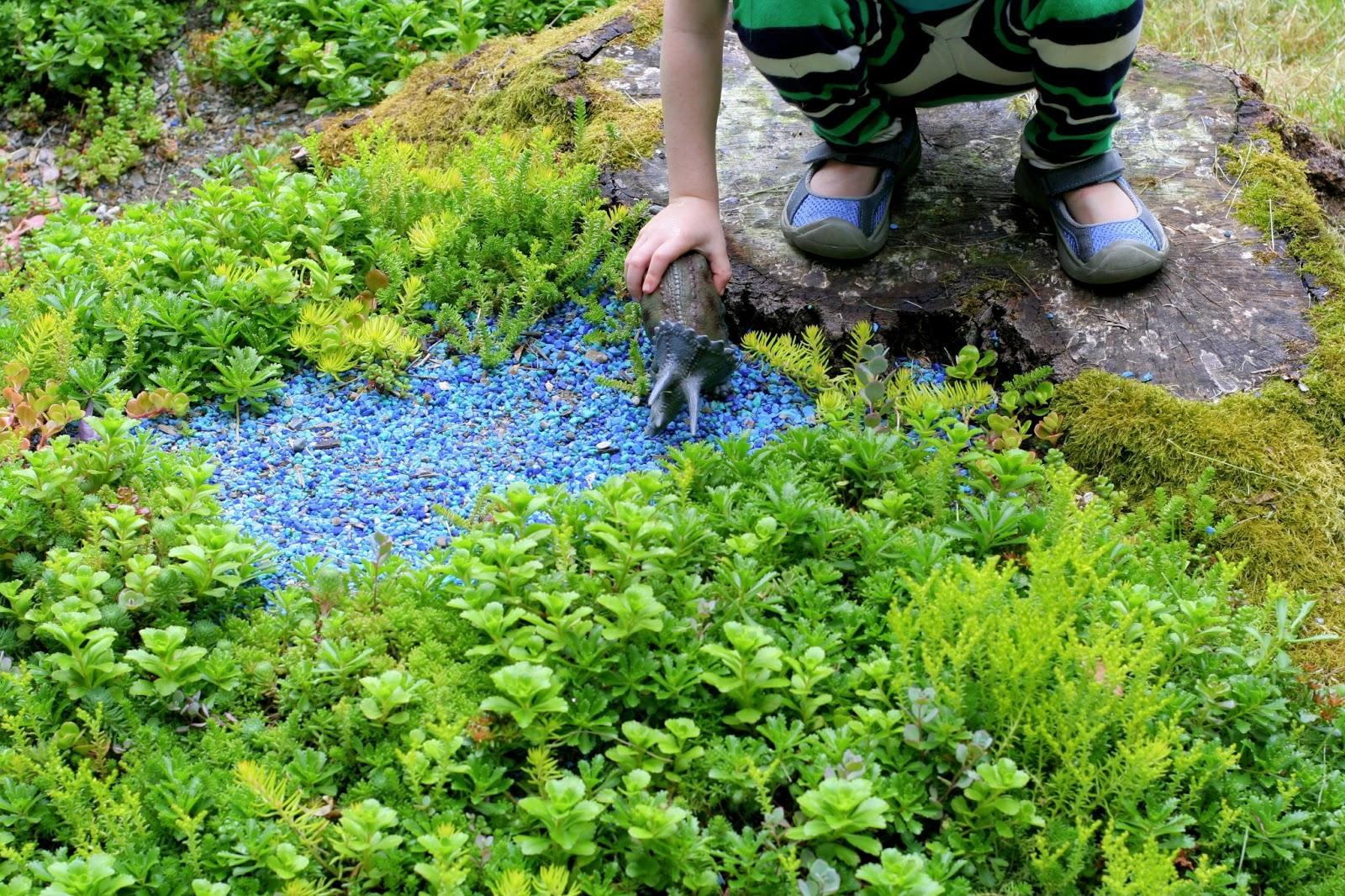 Not a Fairy Garden - a Dinosaur Garden!