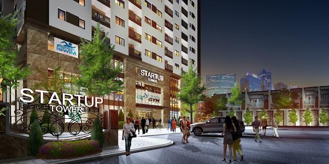 Cảnh quan chung cư Startup Tower