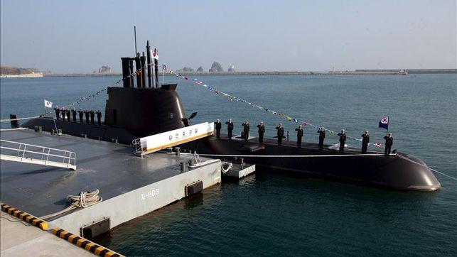 Corea del Sur ha presentado, este jueves, su sexto submarino tipo 214