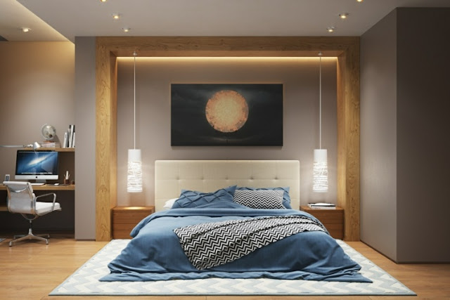 indirect lighting for ceiling in a bedroom
