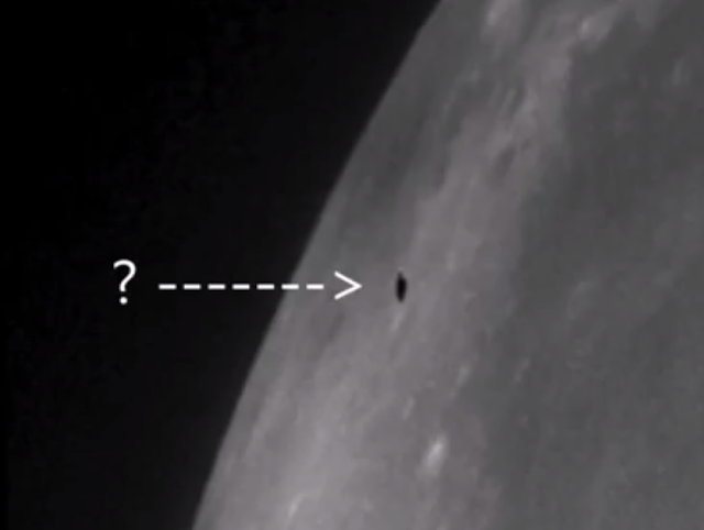 Amazing UFO caught going over the moon