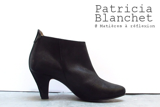 Low boots Patricia Blanchet cuir noir shiny