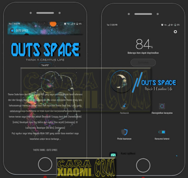 Download Link MIUI Theme Outs Space Mtz For Xiaomi Terbaru