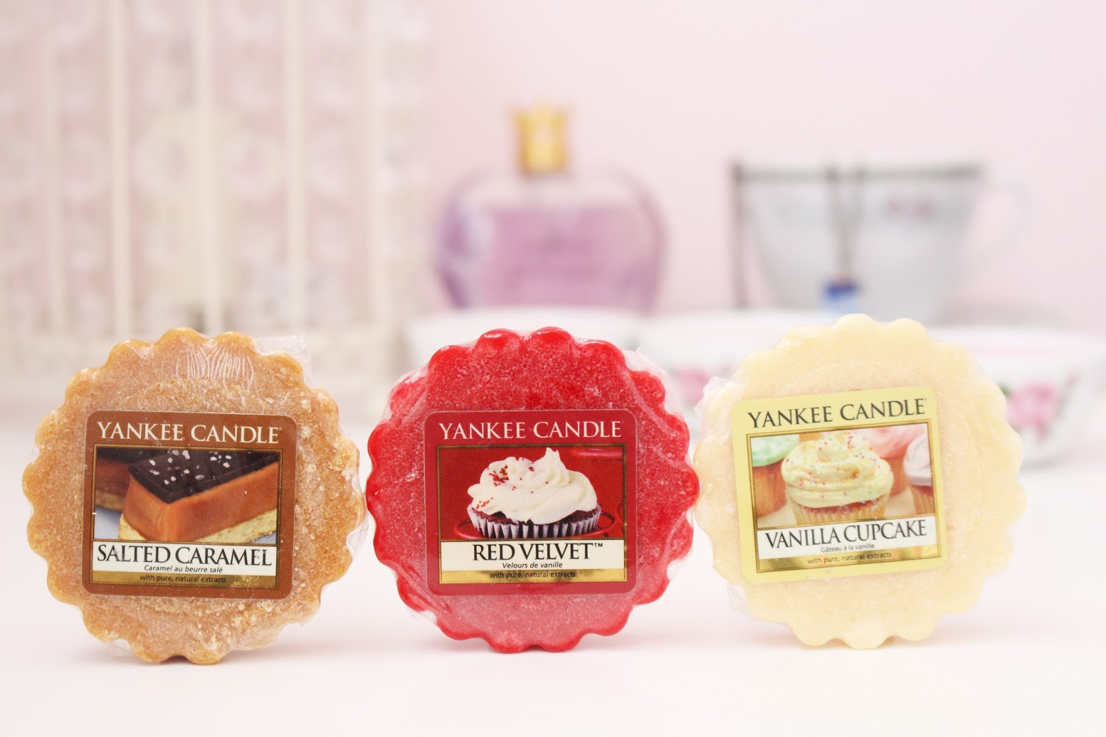 Yankee Candle Salted Caramel, Red Velvet and Vanilla Cupcake Wax Tarts