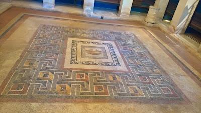 Mosaic floor in Domus Romana, Mdina, Matla.
