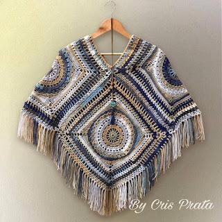 square grande poncho Cris Prata
