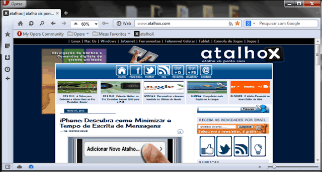 atalho alt + print screen