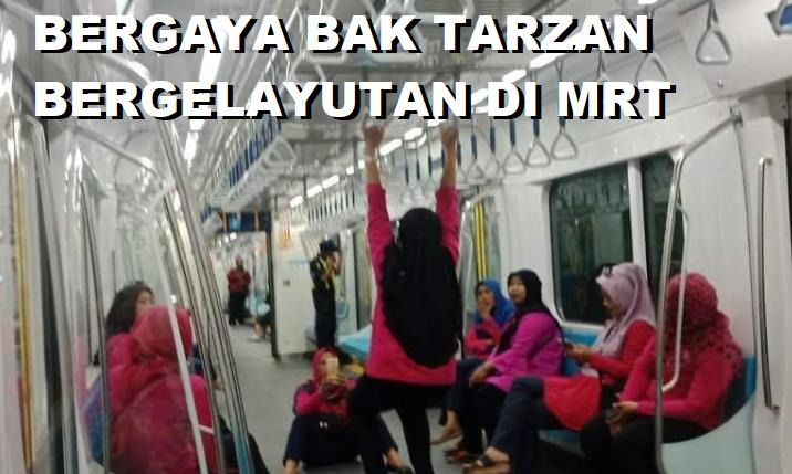 Netizen Menghujat Kelakuan Aneh Warga Indonesia di MRT Jakarta