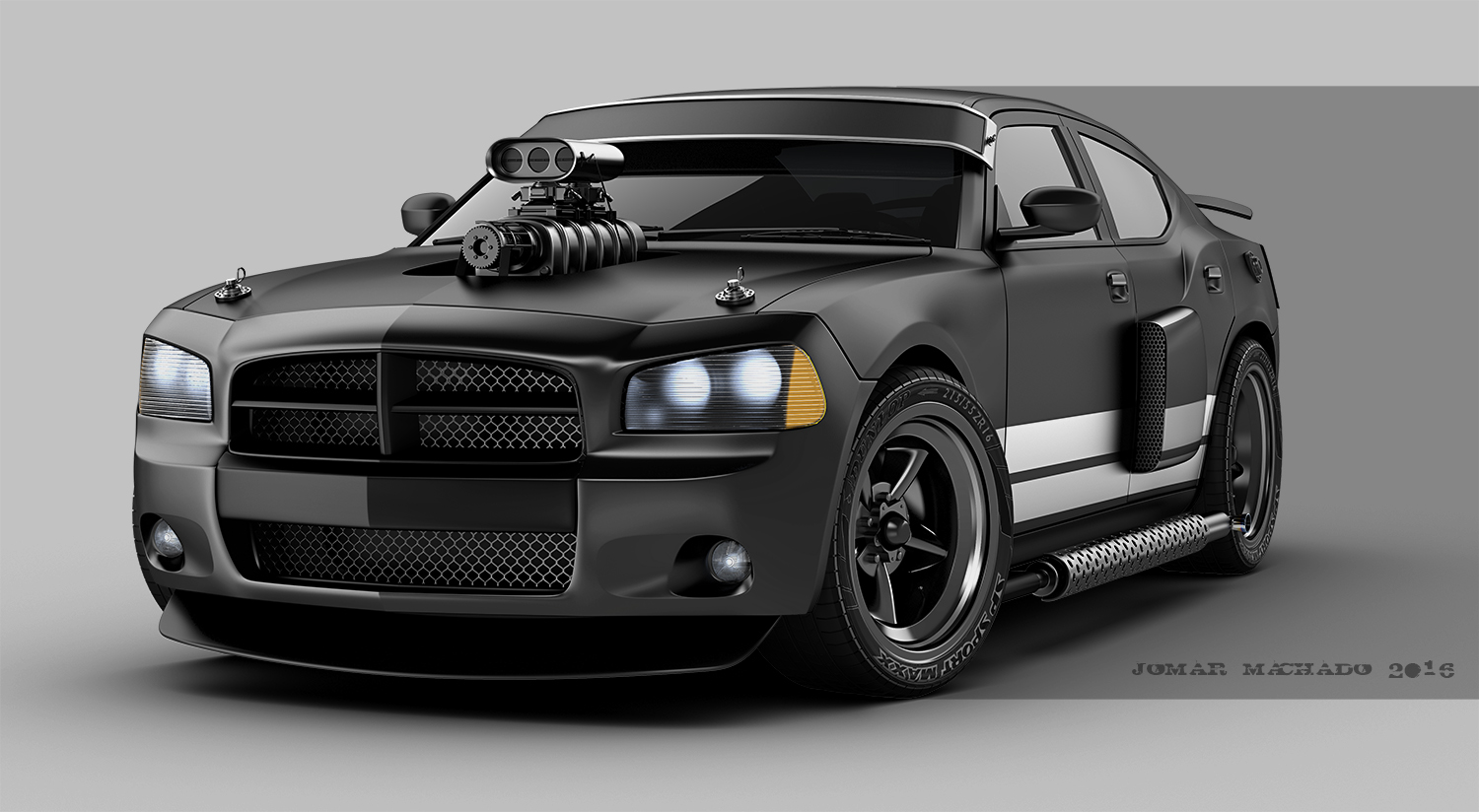 3d works dodge charger custom. Black Bedroom Furniture Sets. Home Design Ideas