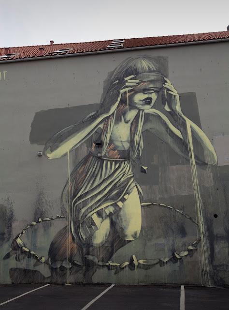 """""""Chant"""", Street Art Mural By Faith47 For Nuart In Stavanger, Norway. 2"""