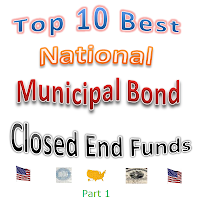Top 10 National Municipal Bond Closed End Funds