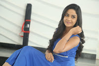 Divya Nandini stunning Beauty in blue Dress at Trendz Exhibition Launch ~  Celebrities Galleries 019.JPG