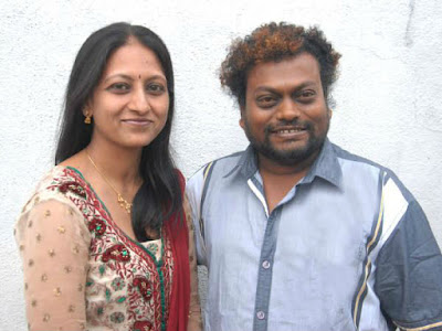 Sadhu Kokila with wife Saleena