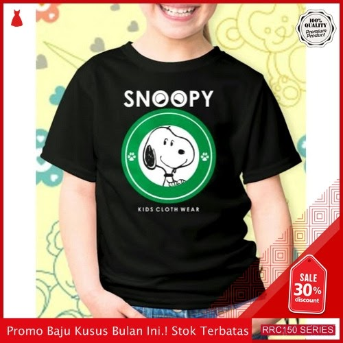 RRC150B38 Baju Fashion Anak Snoopy Logo Green Fashion BMGShop