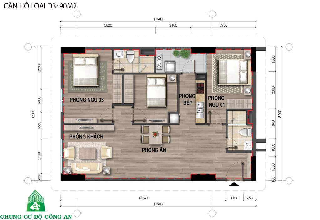 Dự án chung cư nhà ở xã hội cho cán bộ chiến sĩ Bộ Công An