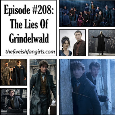 episode 208 image collage of pictures from the crimes of grindelwald